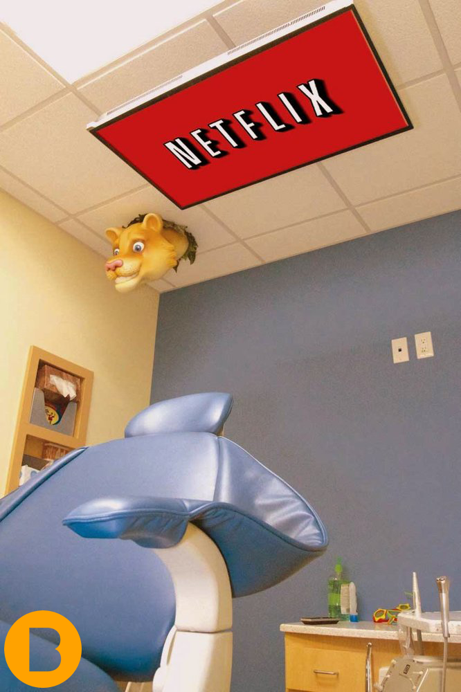 tv in dental surgery