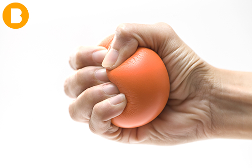 stress ball used to beat dental fear